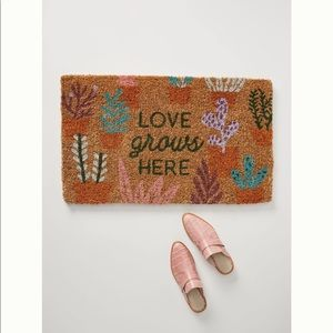 NWT - Anthropologie Doormat - Love Grows Here